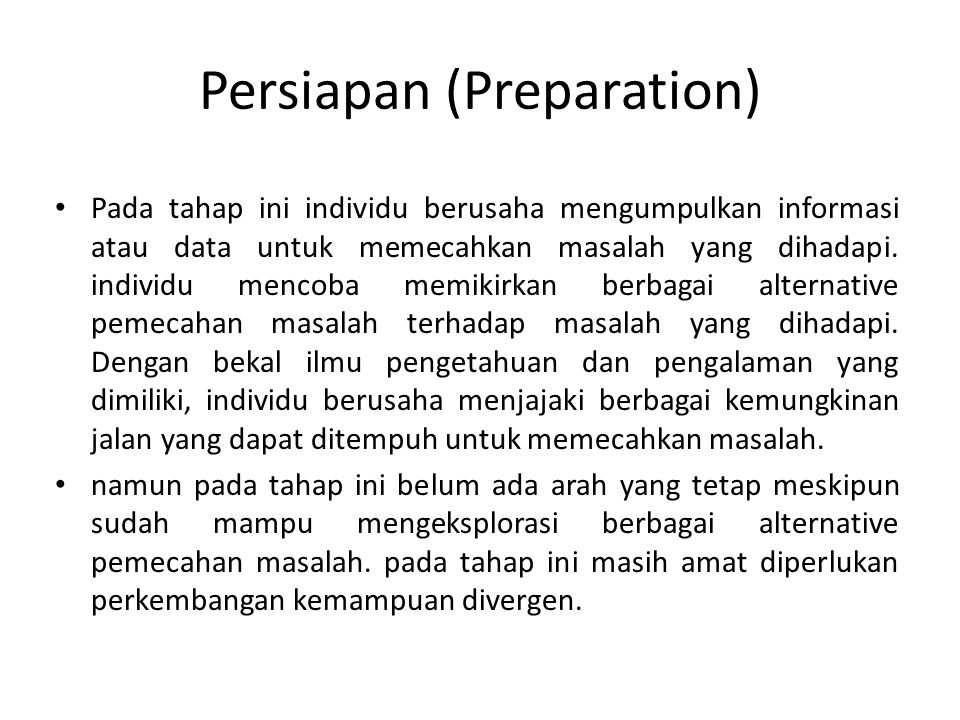 Persiapan (Preparation)