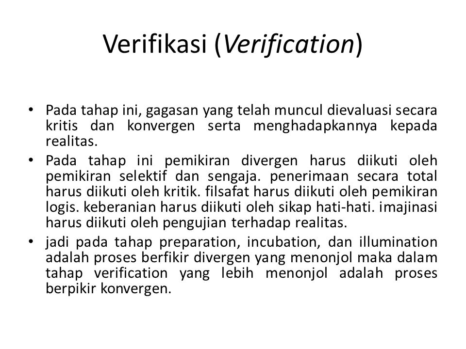 Verifikasi (Verification)