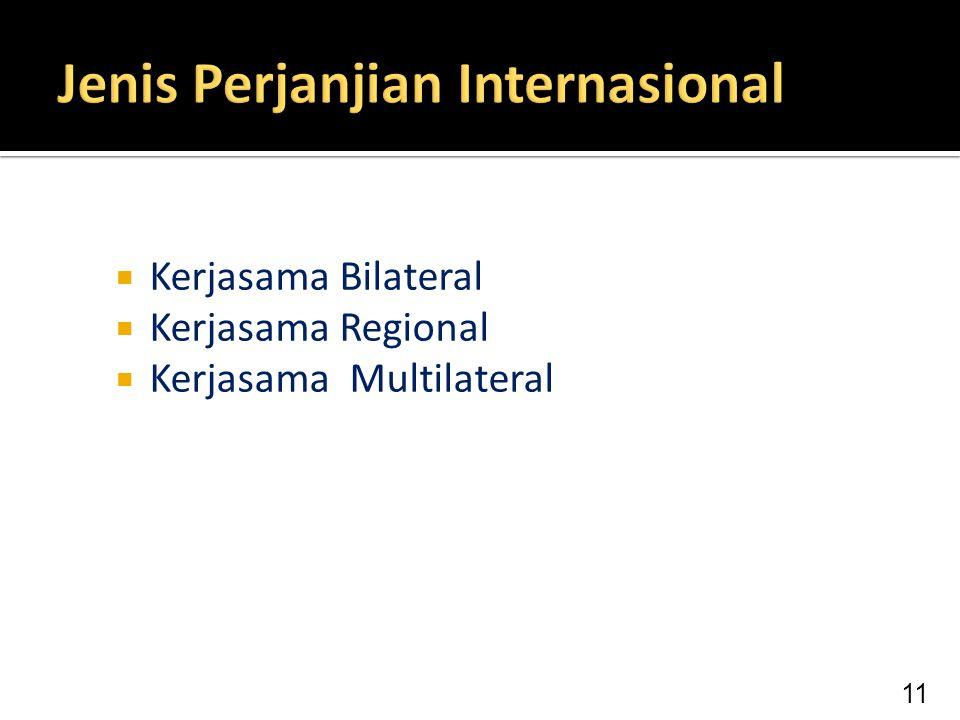 Jenis Perjanjian Internasional