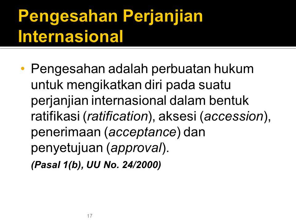 Pengesahan Perjanjian Internasional