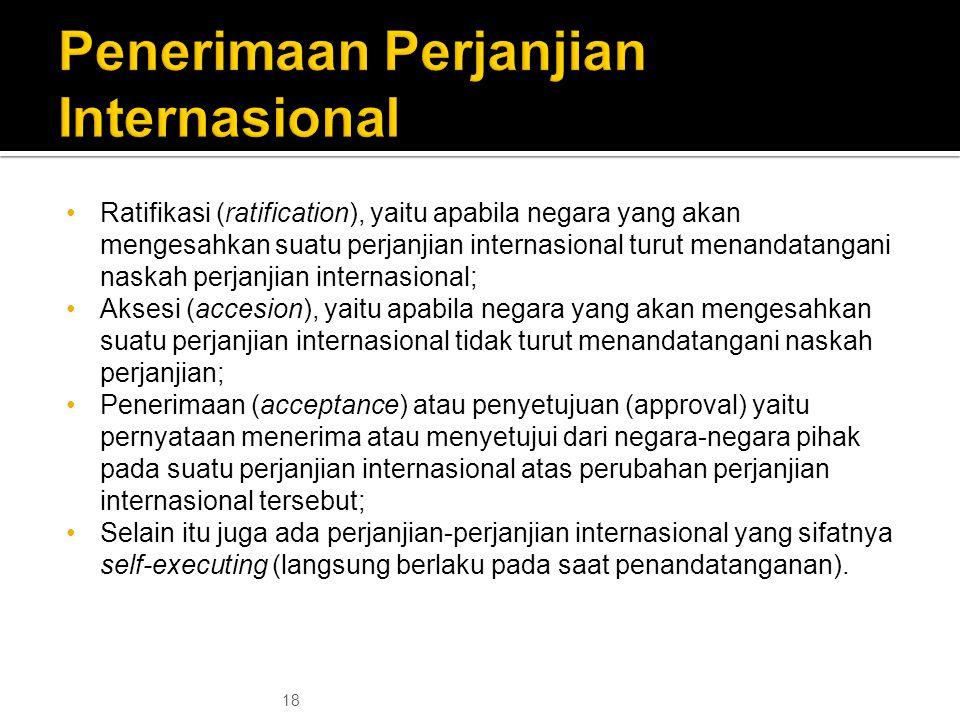 Penerimaan Perjanjian Internasional