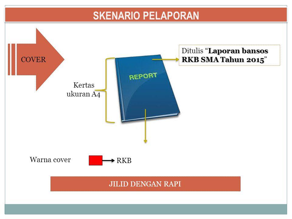 SKENARIO PELAPORAN COVER Ditulis Laporan bansos RKB SMA Tahun 2015