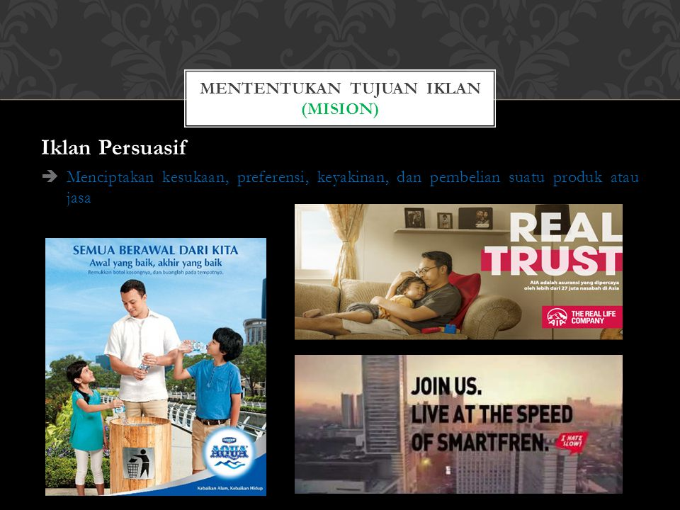 Mententukan tujuan iklan (MISION)