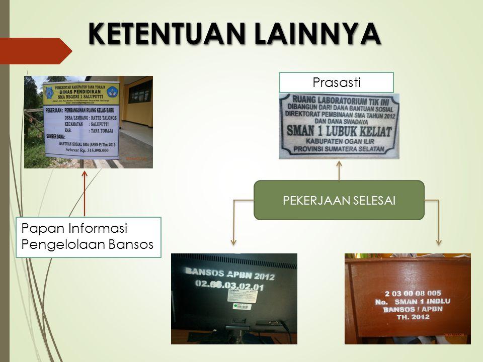 Papan Informasi Pengelolaan Bansos