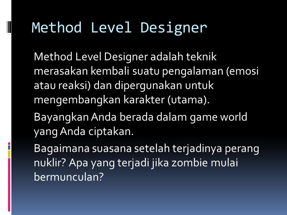 Method Level Designer