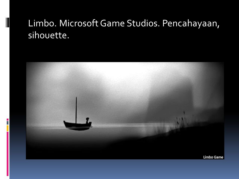 Limbo. Microsoft Game Studios. Pencahayaan, sihouette.