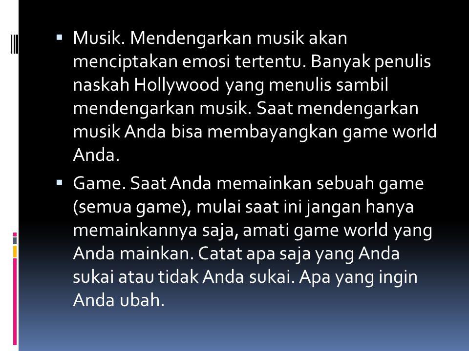 Musik. Mendengarkan musik akan menciptakan emosi tertentu