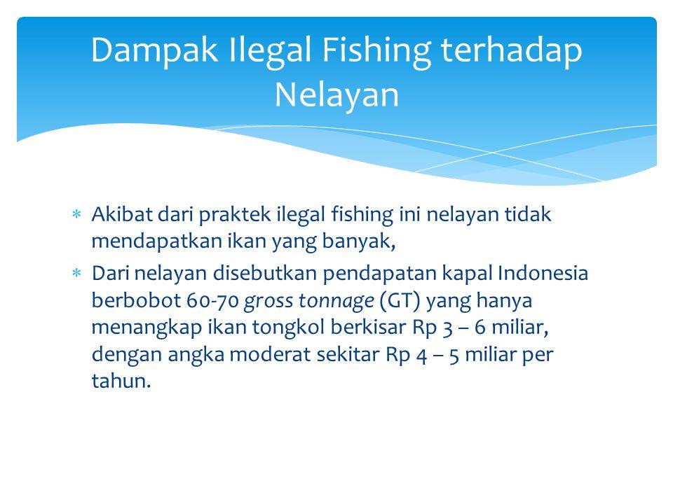 Dampak Ilegal Fishing terhadap Nelayan