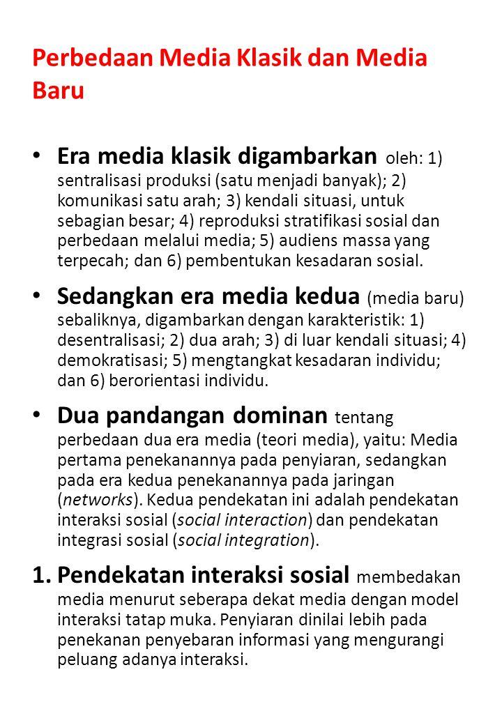 Perbedaan Media Klasik dan Media Baru