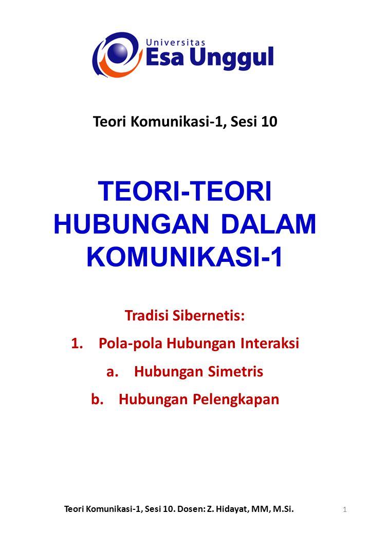 TEORI-TEORI HUBUNGAN DALAM KOMUNIKASI-1