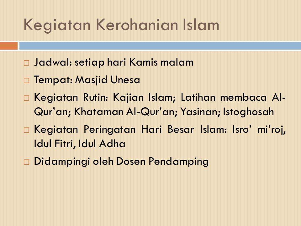 Kegiatan Kerohanian Islam