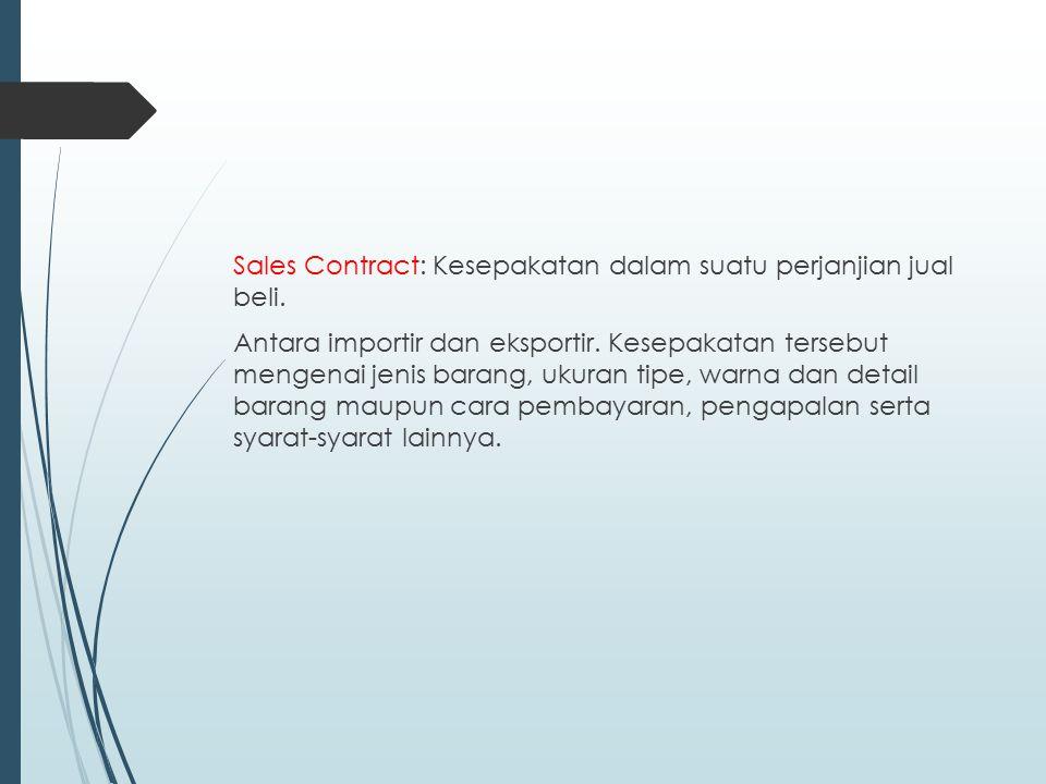 Sales Contract: Kesepakatan dalam suatu perjanjian jual beli