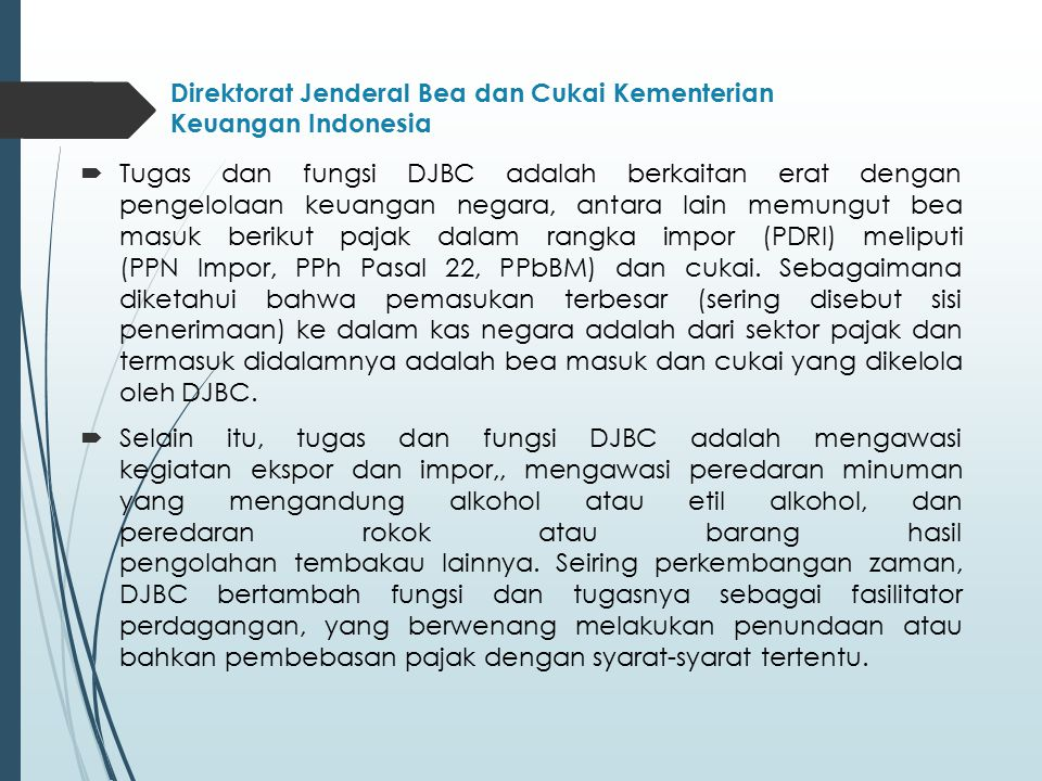 Direktorat Jenderal Bea dan Cukai Kementerian Keuangan Indonesia