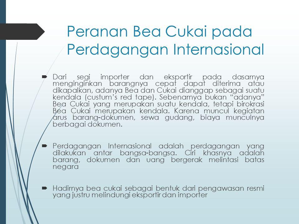 Peranan Bea Cukai pada Perdagangan Internasional