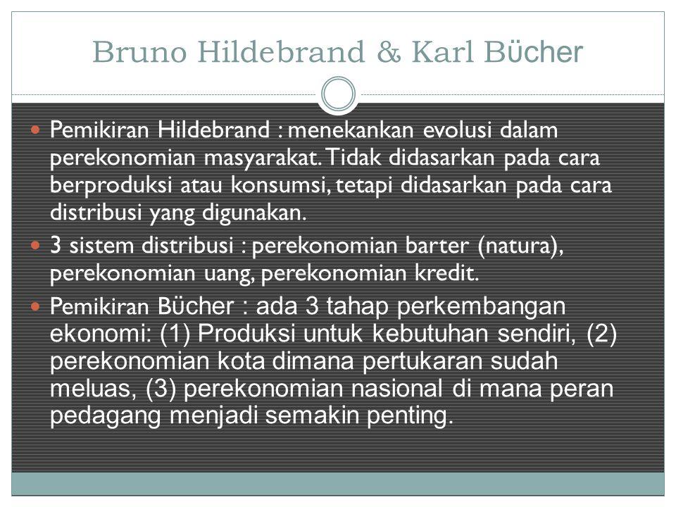 Bruno Hildebrand & Karl Bϋcher