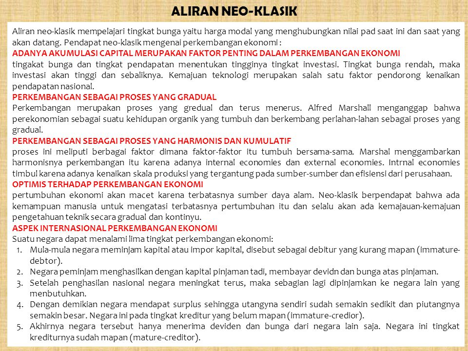 ALIRAN NEO-KLASIK