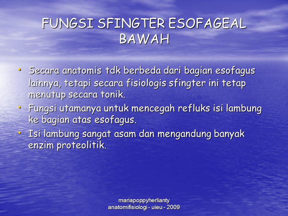 FUNGSI SFINGTER ESOFAGEAL BAWAH