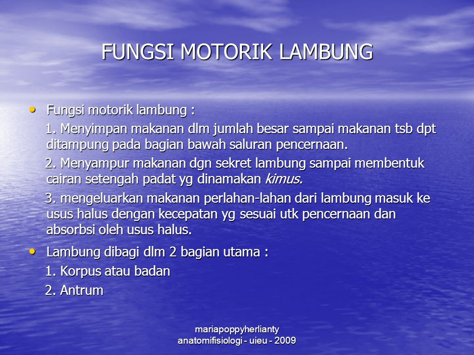 FUNGSI MOTORIK LAMBUNG