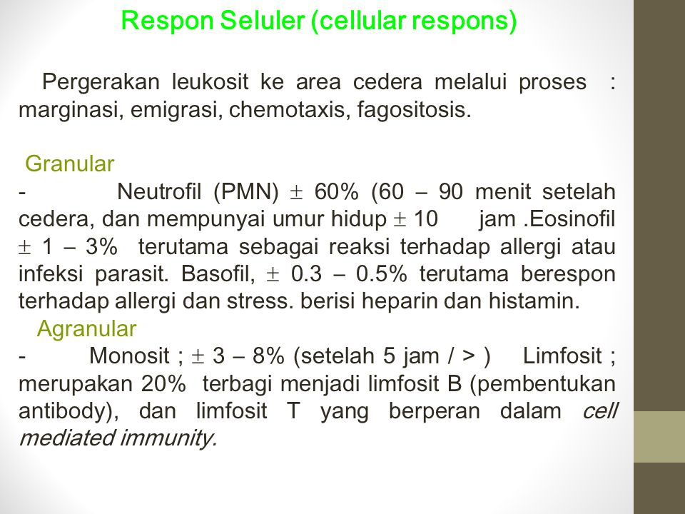 Respon Seluler (cellular respons)