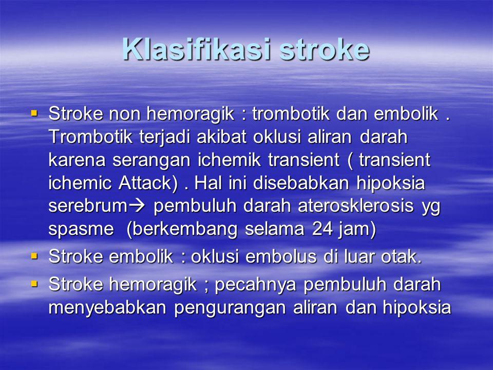 Klasifikasi stroke