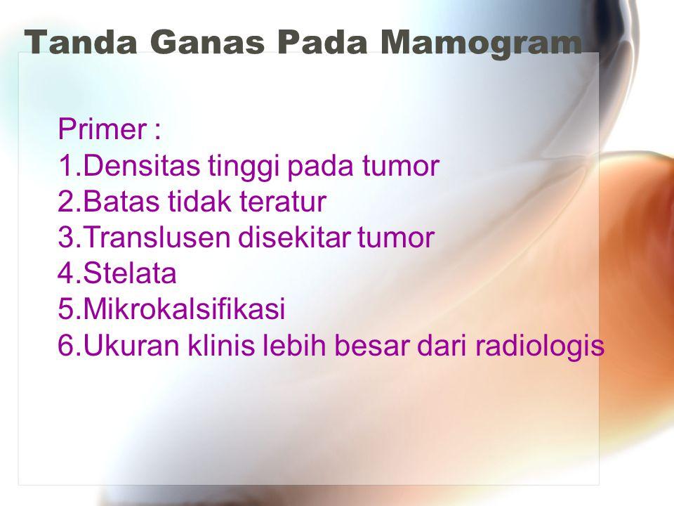 Tanda Ganas Pada Mamogram