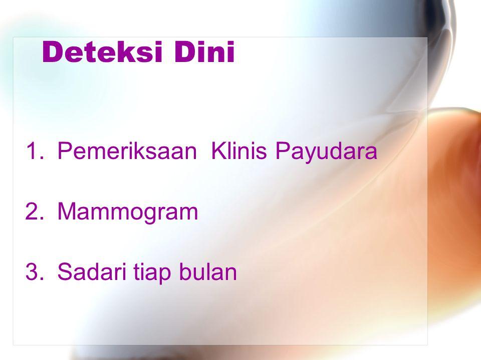 Deteksi Dini Pemeriksaan Klinis Payudara Mammogram Sadari tiap bulan