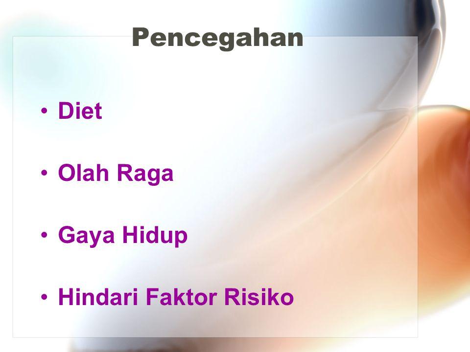 Pencegahan Diet Olah Raga Gaya Hidup Hindari Faktor Risiko
