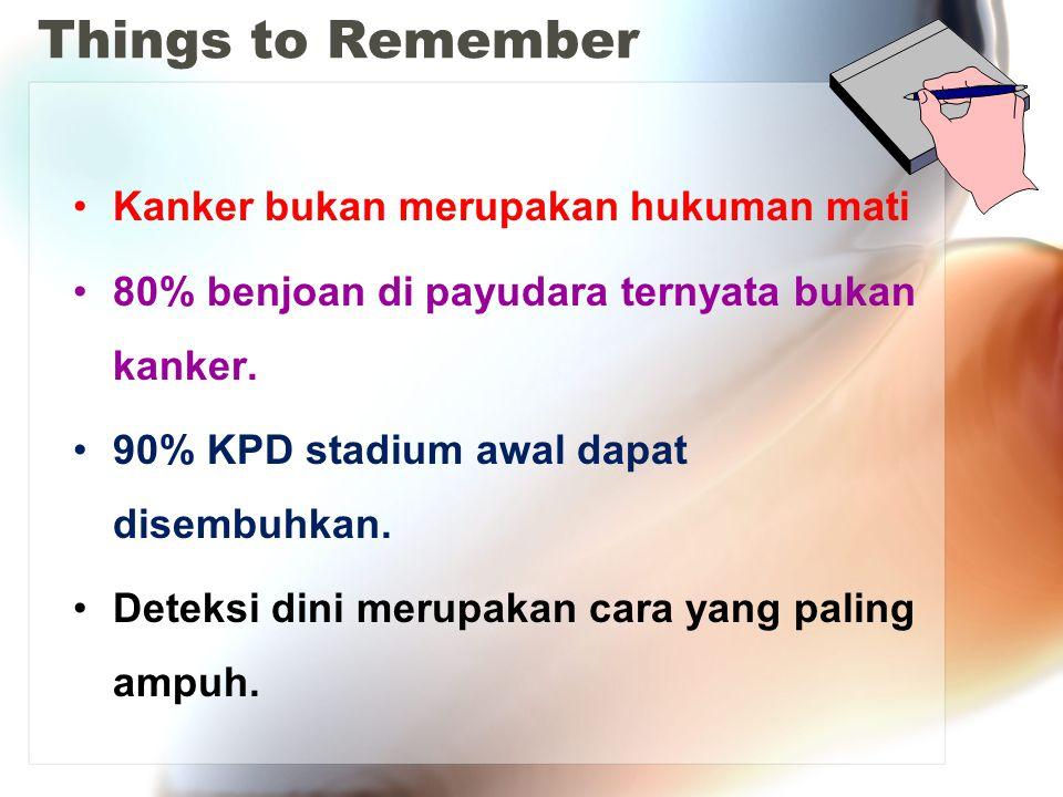 Things to Remember Kanker bukan merupakan hukuman mati