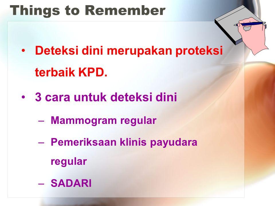 Things to Remember Deteksi dini merupakan proteksi terbaik KPD.
