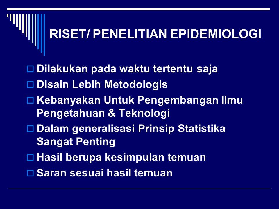RISET/ PENELITIAN EPIDEMIOLOGI