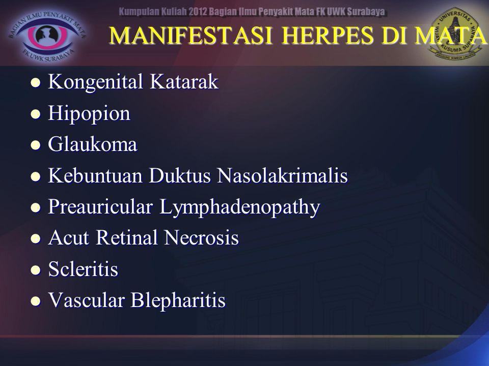 MANIFESTASI HERPES DI MATA