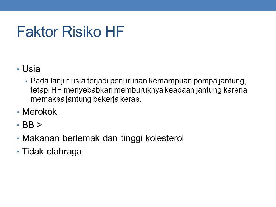 Faktor Risiko HF Usia Merokok BB >