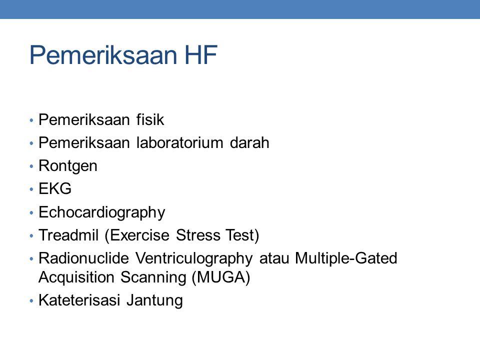 Pemeriksaan HF Pemeriksaan fisik Pemeriksaan laboratorium darah