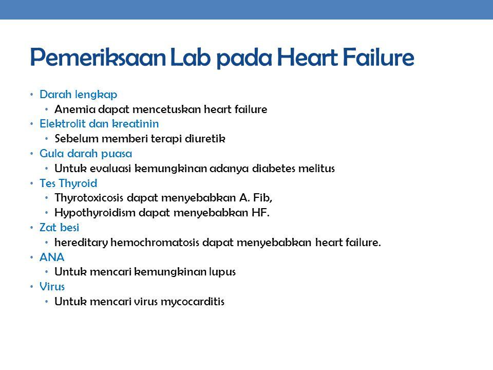 Pemeriksaan Lab pada Heart Failure