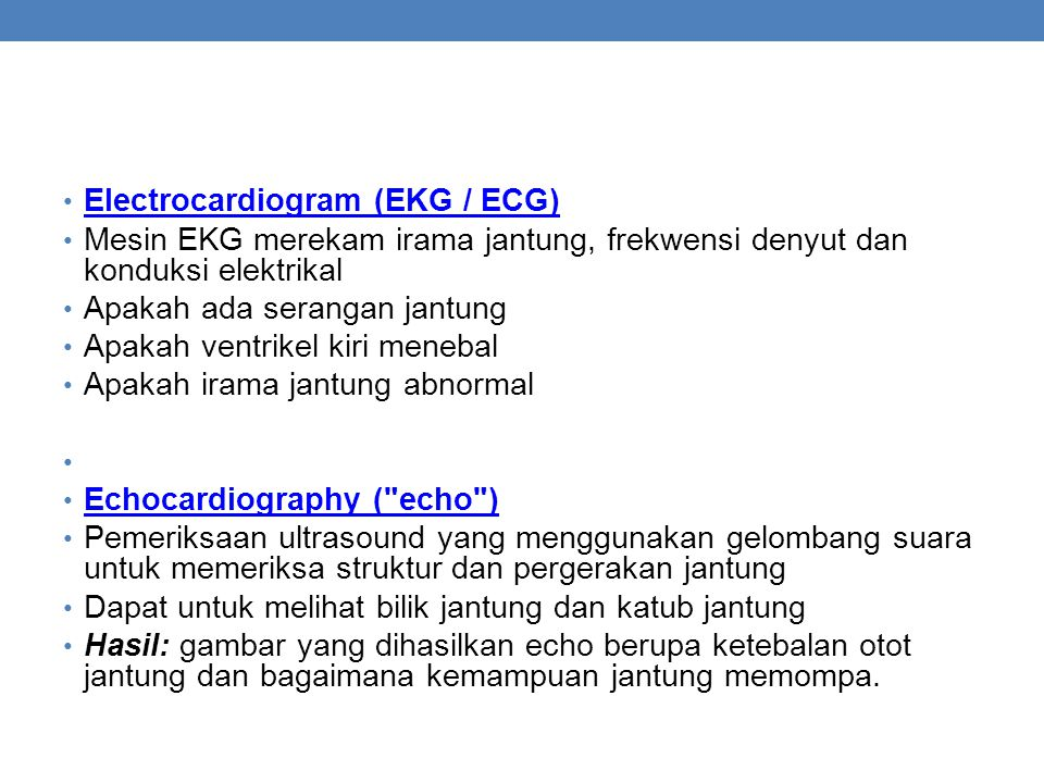 Electrocardiogram (EKG / ECG)