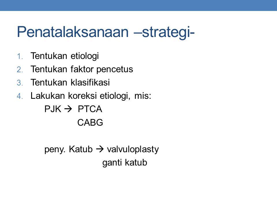 Penatalaksanaan –strategi-
