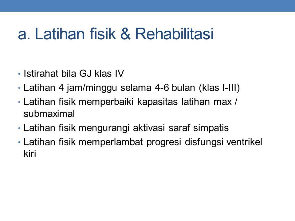 a. Latihan fisik & Rehabilitasi