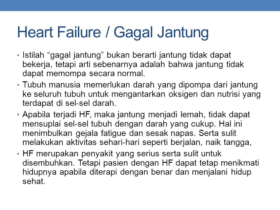 Heart Failure / Gagal Jantung