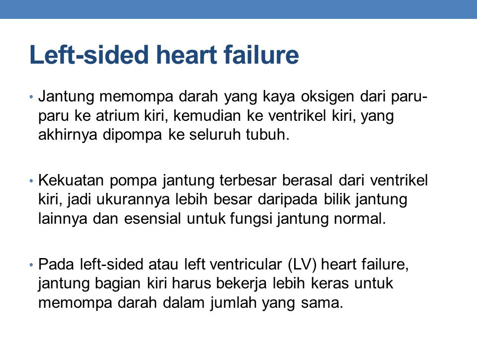 Left-sided heart failure