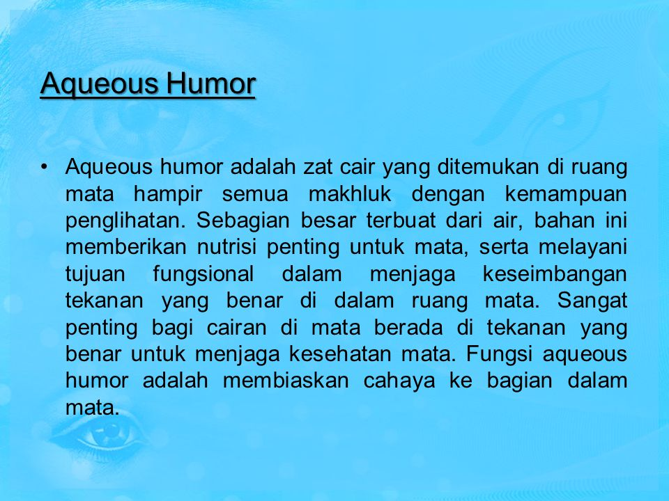 Aqueous Humor