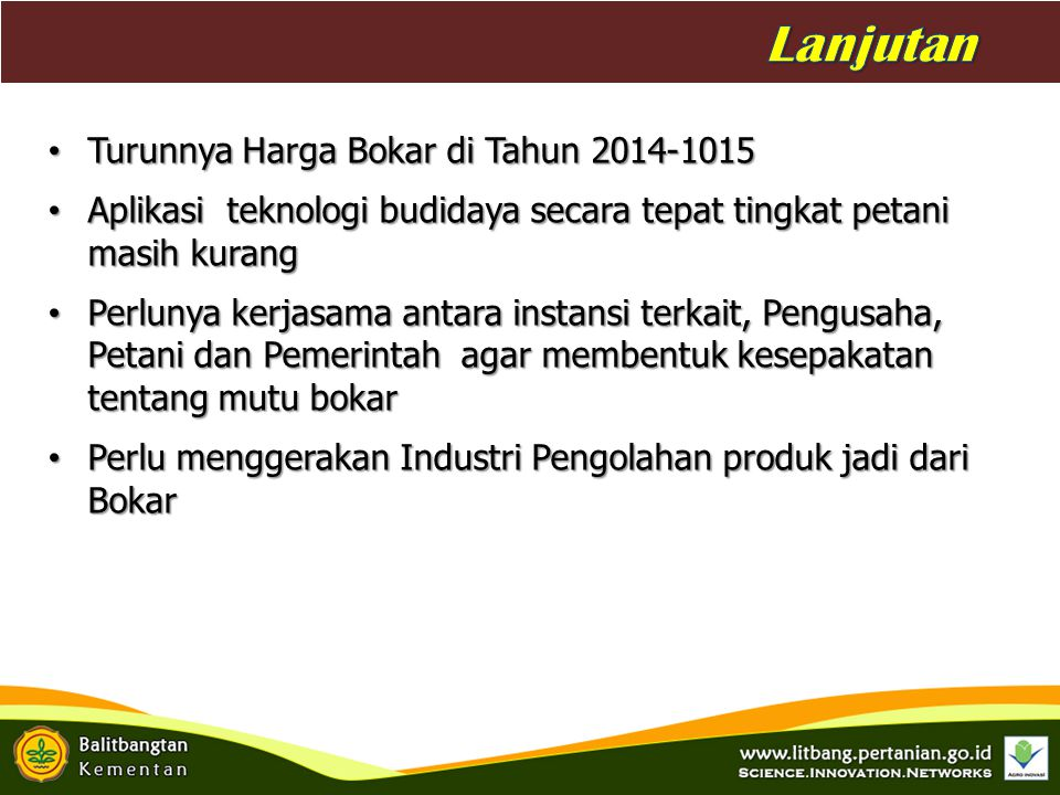 Lanjutan Latar Belakang Turunnya Harga Bokar di Tahun 2014-1015