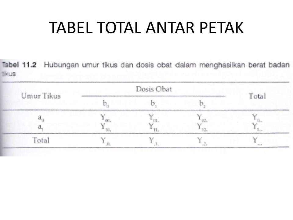 TABEL TOTAL ANTAR PETAK