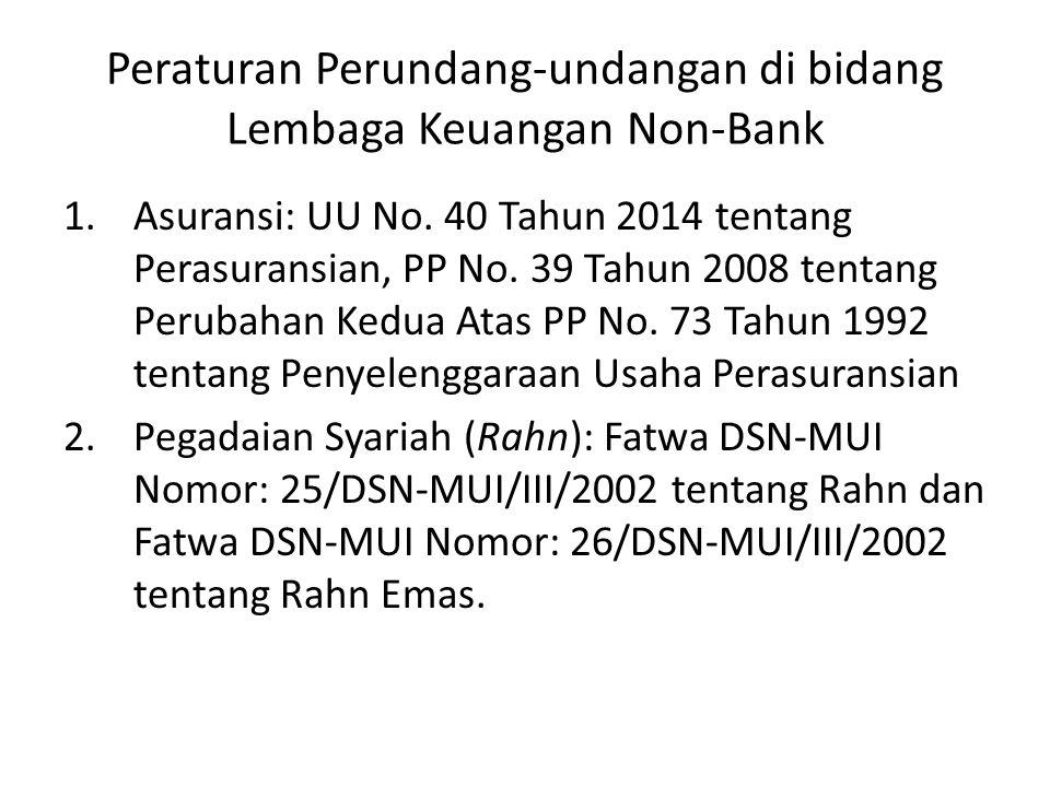 Peraturan Perundang-undangan di bidang Lembaga Keuangan Non-Bank