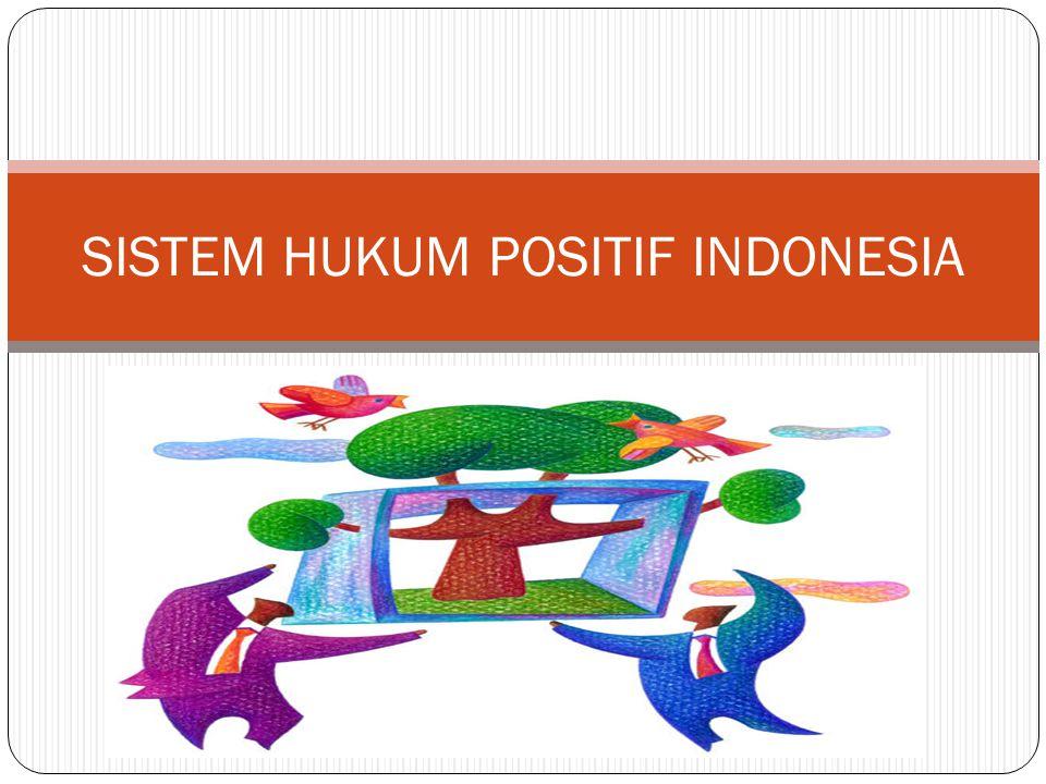 SISTEM HUKUM POSITIF INDONESIA