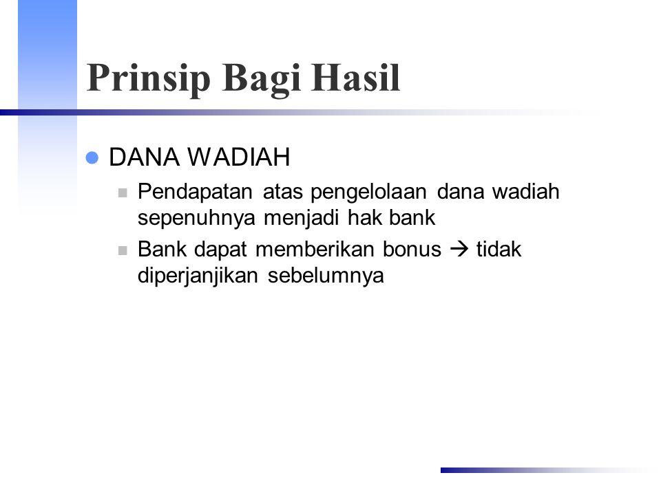 Prinsip Bagi Hasil DANA WADIAH