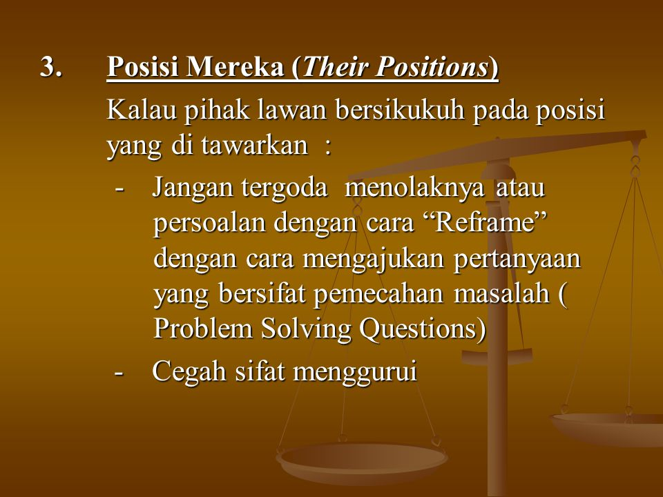 3. Posisi Mereka (Their Positions)