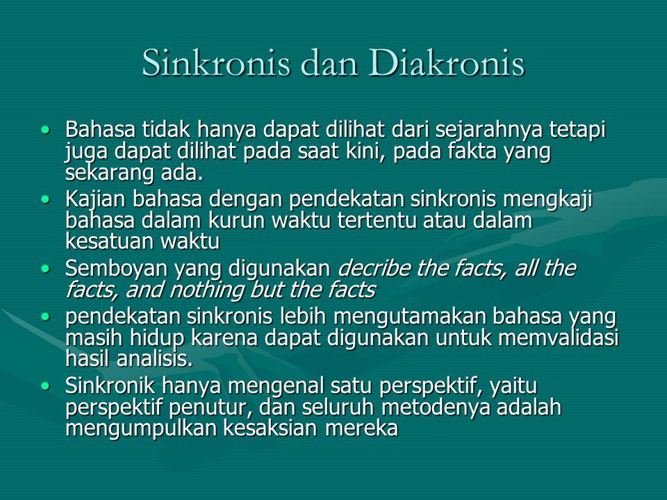 Sinkronis dan Diakronis