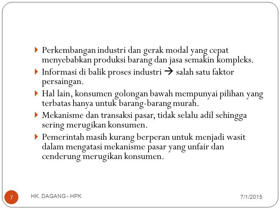 Informasi di balik proses industri  salah satu faktor persaingan.