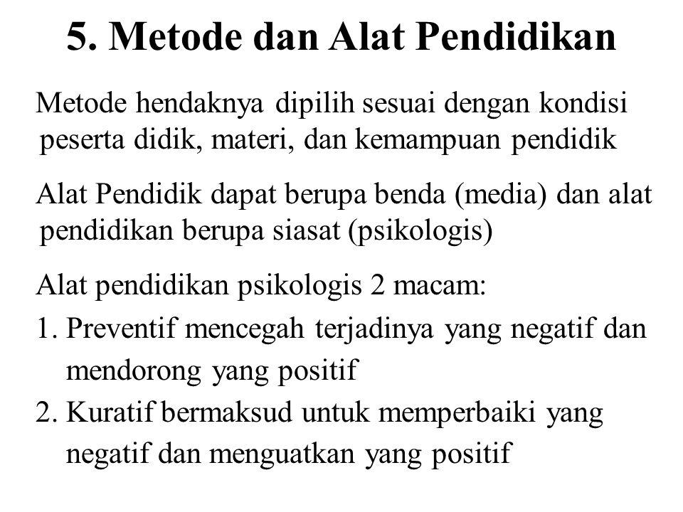 5. Metode dan Alat Pendidikan