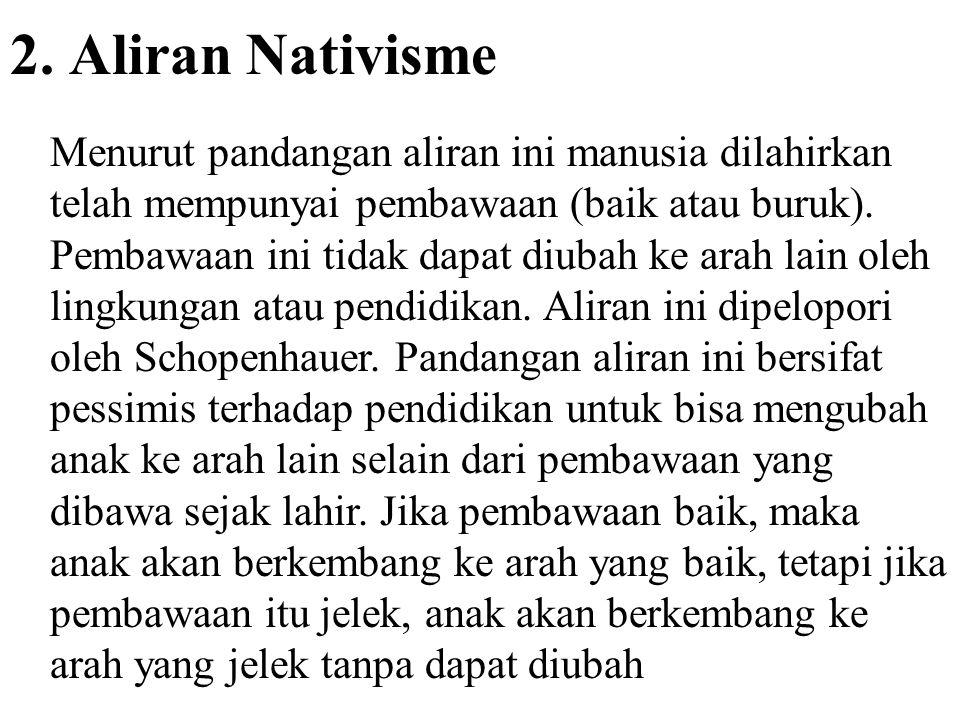 2. Aliran Nativisme